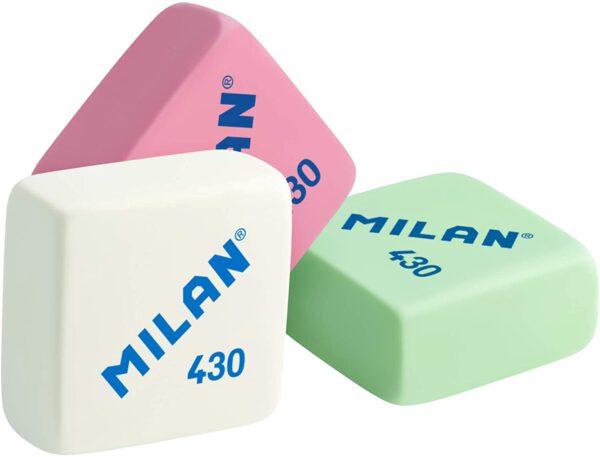 Milan 430 – Caja de 30 gomas de borrar