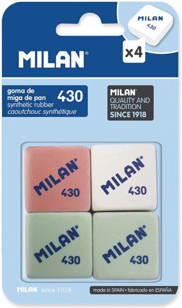 Milan: Pack de 4 gomas de borrar